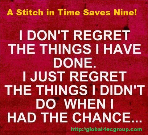 Essay on a stitch in time saves nine