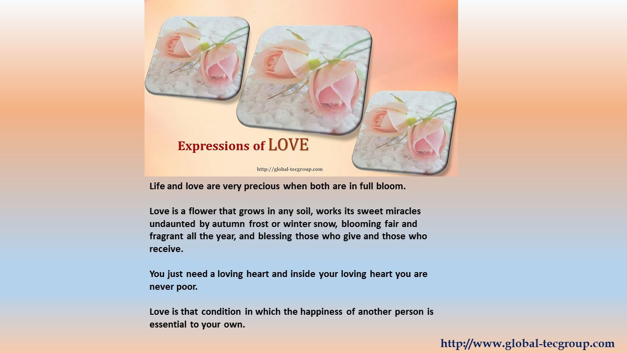 Expressions of Love - Post 12 Feb 15
