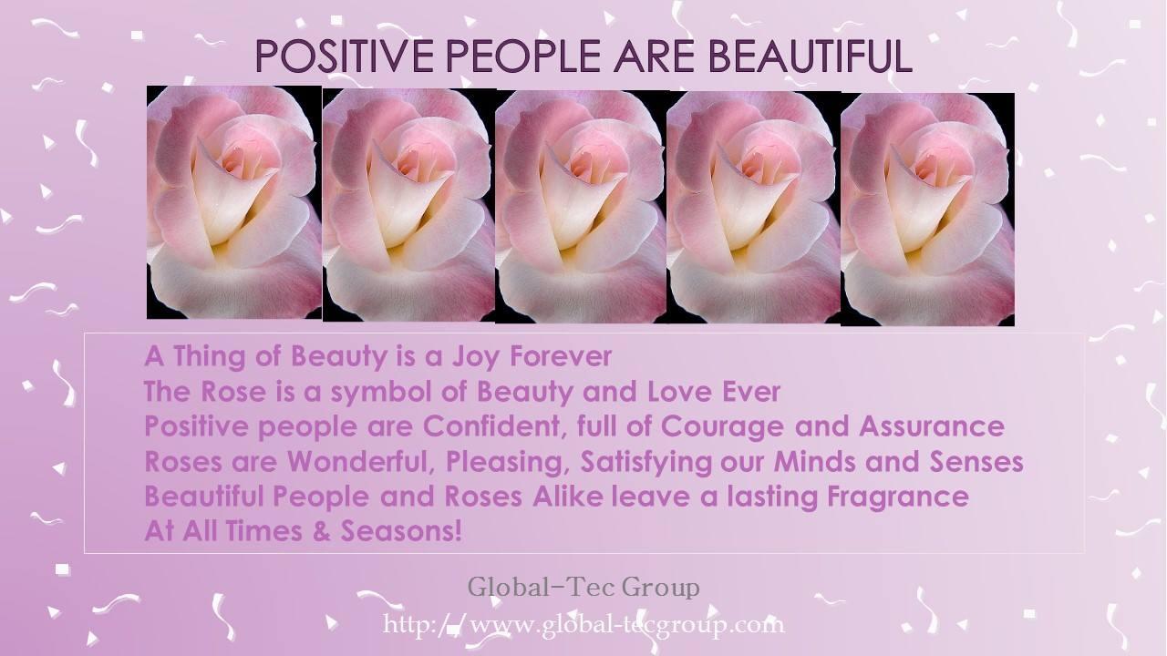 Positive People Are Beautiful